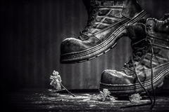 Bad shoes-STILL LIFE..! Royalty Free Stock Photography