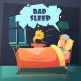 Bad Sleep Illustration Royalty Free Stock Photography