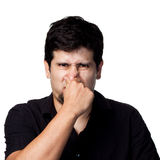 Bad Smell!. Funny series of images, lots of different expressions royalty free stock photo