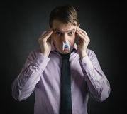 Bad smell concept photography. Royalty Free Stock Photo