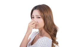 Bad smell face Stock Images