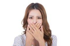 Bad smell face stock photos