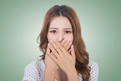 Bad smell face royalty free stock photos