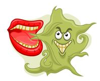 Bad smell from mouth. Isolated on white background Royalty Free Stock Image