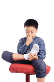 Bad smell sock Stock Image