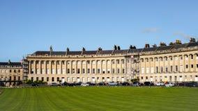 BAD SOMERSET/UK - OKTOBER 02: Hus i det kungliga halvmånformigt in Arkivfoton