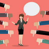 Bad speech from business woman Stock Images