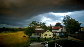 Bad summer weather in Bavaria, climate change Royalty Free Stock Photography