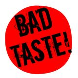 BAD TASTE sticker. Authentic design graphic stamp Royalty Free Stock Photography