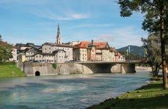 Bad tolz and isar river, bavarian landscape, germany Stock Images