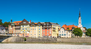 Bad Tolz seen from River Isar - Germany Royalty Free Stock Image