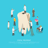 Bad Tooth Treatment Illustration Stock Images