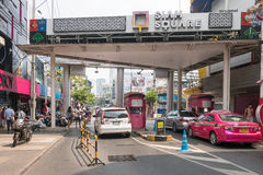 Bad traffic at entrance of Siam Square Stock Photos