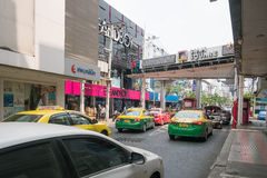 Bad traffic at entrance of Siam Square Royalty Free Stock Images