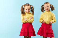 Bad twin/Good twin Royalty Free Stock Photos