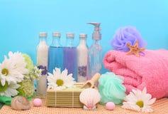 Bad-und Dusche-Produkte Stockbild