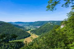 Bad Urach at the suabian alb Royalty Free Stock Image
