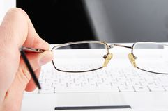Bad vision. Glasses Stock Images