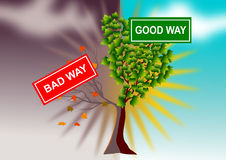Bad good sign Stock Images
