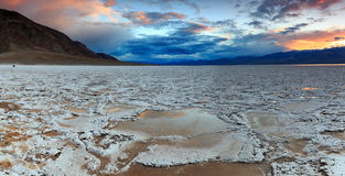 Bad Water Basin Panorama, California, USA.. Stock Photography