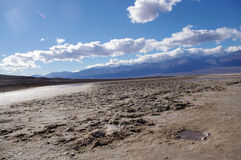 Bad water at death valley Royalty Free Stock Image