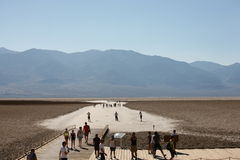 Bad water, death valley Stock Photography