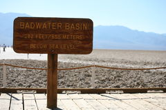 Bad water in death valley Stock Photography