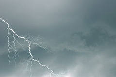 Bad weather. Incomintg on the city Royalty Free Stock Photography