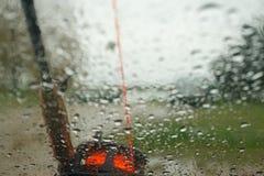 Bad weather. Bad rainy weather for fishing stock image