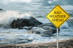 Bad weather ahead Stock Images
