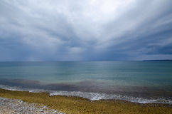Bad weather approaching at the coast Stock Photos