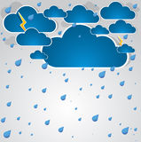 Bad weather background. Stock Images
