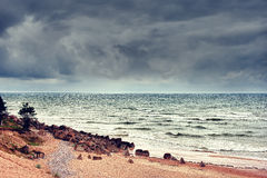 Bad weather on the Baltic Sea Stock Photo