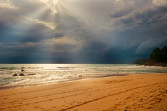 Bad weather on the beach Royalty Free Stock Image