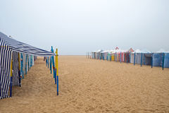 Bad weather at the beach Stock Photography