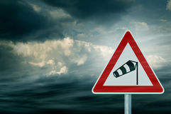 Bad Weather - Caution - Risk of Storm and Thunderstorms Stock Image
