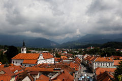 Bad weather clouds on Kamnik Stock Photo