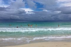 Bad weather on the coast, Cuba, Varadero. Bad weather on the coast Royalty Free Stock Images