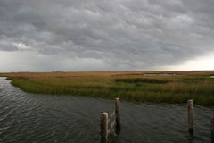 Bad weather coming on the Marsh Stock Photos