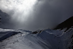 Bad weather is coming in the mountains Stock Photos