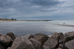 Bad weather coming up on the baltic sea Royalty Free Stock Photo