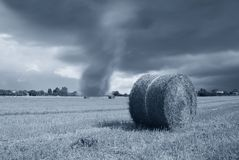 Bad weather in countryside Royalty Free Stock Photography