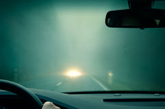 Bad Weather Driving Royalty Free Stock Photos