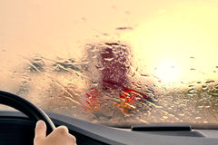 Bad Weather Driving Stock Images