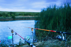 Bad weather fishing Royalty Free Stock Photos