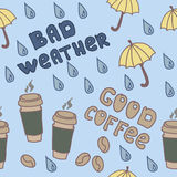 Bad weather & good coffee Royalty Free Stock Photos