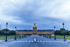 Bad weather on the Invalides of Paris Royalty Free Stock Photo