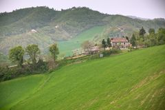 Bad Weather at Italy Farmland Stock Photo