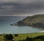 Bad weather landscape Marlborough Sounds NZ Royalty Free Stock Image