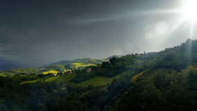 Bad weather landscape at Urbino Italy Royalty Free Stock Photography